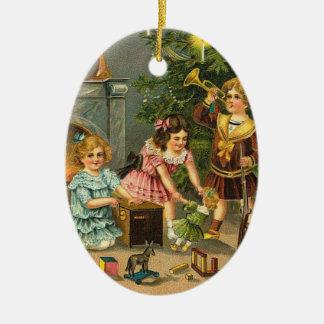 Ornamento del árbol de los saludos del navidad del ornamentos de navidad