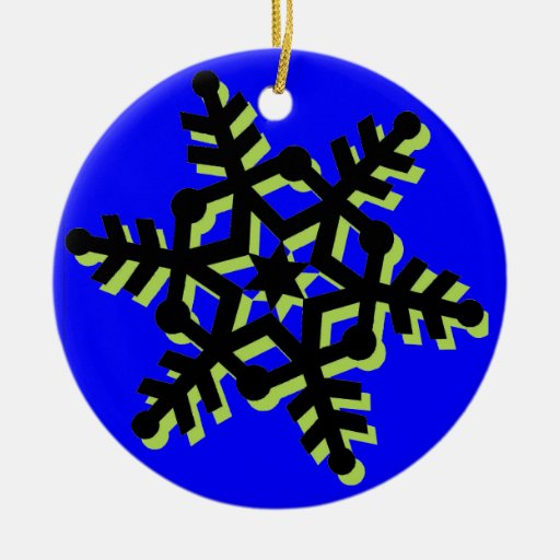 Ornamento del árbol de navidad adorno navideño redondo de cerámica