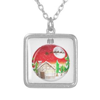Ornamento del árbol de navidad colgante cuadrado