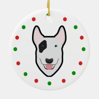 Ornamento del árbol de navidad de bull terrier ornaments para arbol de navidad