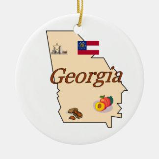 Ornamento del árbol de navidad de Georgia Ornato
