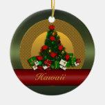 Ornamento del árbol de navidad de Hawaii Adorno Navideño Redondo De Cerámica