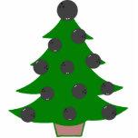 Ornamento del árbol de navidad de la bola de bolos esculturas fotográficas
