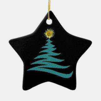 Ornamento del árbol de navidad de la esperanza - adorno navideño de cerámica en forma de estrella