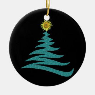 Ornamento del árbol de navidad de la esperanza - adorno navideño redondo de cerámica