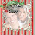 Ornamento del árbol de navidad de la foto adorno fotoescultura