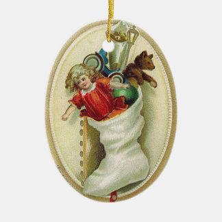 """""""Ornamento del árbol de navidad de la media del vi Ornamento De Navidad"""