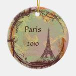 Ornamento del árbol de navidad de la torre Eiffel Adornos De Navidad