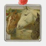 Ornamento del árbol de navidad de los caballos del ornamente de reyes