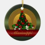 Ornamento del árbol de navidad de Mississippi Ornamentos De Navidad