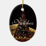 Ornamento del árbol de navidad de Natchez Adorno Ovalado De Cerámica