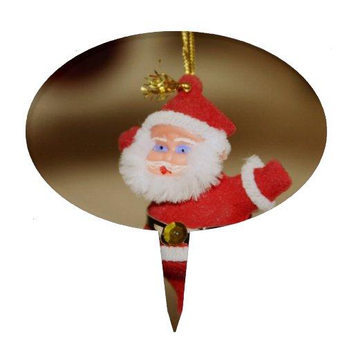 Ornamento del árbol de navidad de Papá Noel Decoración Para Tarta