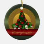 Ornamento del árbol de navidad de Pennsylvania Adorno Redondo De Cerámica