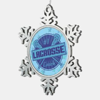 Ornamento del árbol de navidad del coche de #1 adorno de peltre en forma de copo de nieve