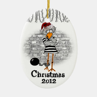Ornamento del árbol de navidad del Jailbird Ornamento De Navidad