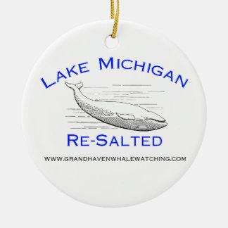 Ornamento del árbol de navidad del lago Michigan Adorno Navideño Redondo De Cerámica