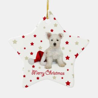 Ornamento del árbol de navidad del perrito de West Ornamento Para Reyes Magos