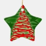 Ornamento del árbol de navidad del tornado adorno
