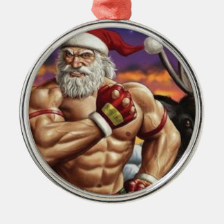 Ornamento del árbol de navidad - para Bodybuilding Adorno Navideño Redondo De Metal