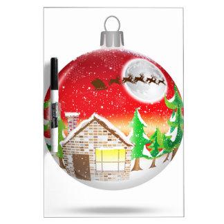 Ornamento del árbol de navidad pizarra blanca