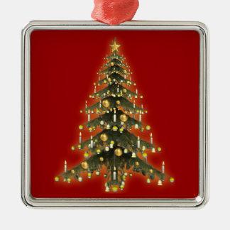 Ornamento del árbol de navidad que brilla adorno de navidad