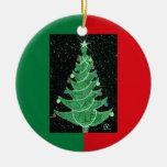 Ornamento del árbol de TEJAS Ornamentos De Navidad