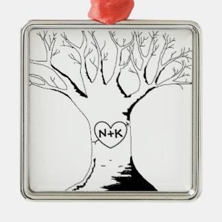 """""""Ornamento del árbol del amor"""" Adorno De Navidad"""