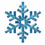 Ornamento del árbol del copo de nieve esculturas fotográficas