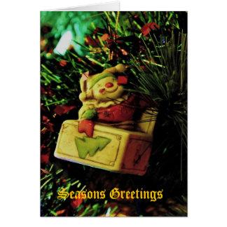 Ornamento del árbol del día de fiesta - tarjeta de