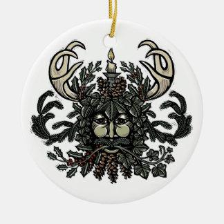 Ornamento del árbol del hombre verde del solsticio adorno