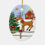 Ornamento del árbol del muñeco de nieve y de Rudol Adorno Para Reyes