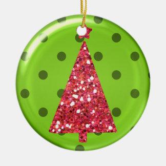 Ornamento del árbol del ornamento del navidad adorno redondo de cerámica