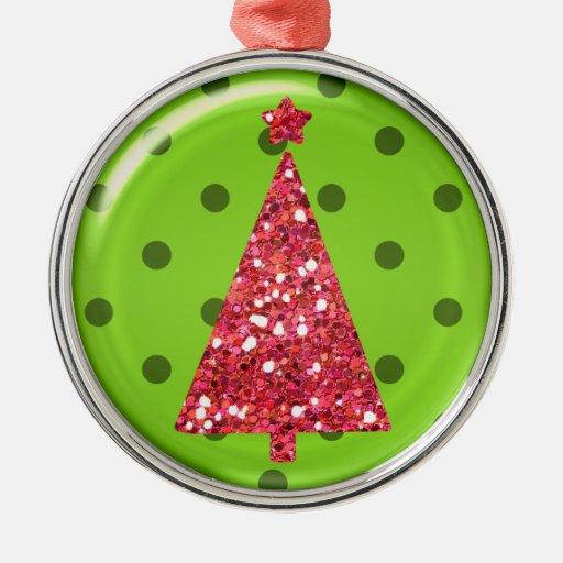Ornamento del árbol del ornamento del navidad adorno redondo plateado