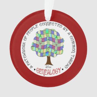 Ornamento del árbol del remiendo del día de fiesta
