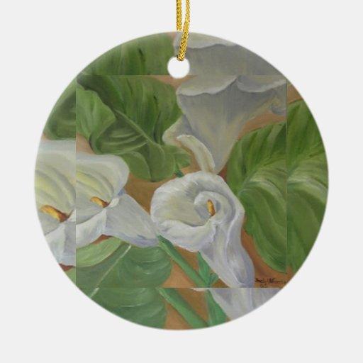 ornamento del arte adorno navideño redondo de cerámica