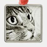 Ornamento del arte de la fantasía del gato de Tabb Adorno De Reyes