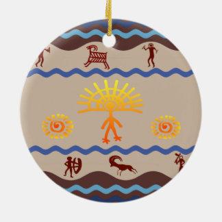 Ornamento del arte de la roca de la trayectoria de ornaments para arbol de navidad