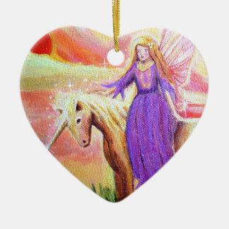 Ornamento del arte del ángel y del unicornio ornamentos de reyes magos
