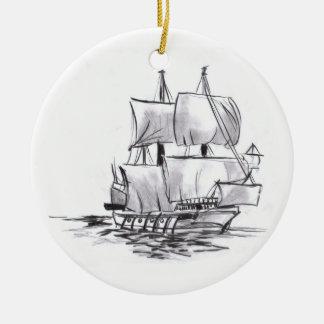 Ornamento del arte del barco pirata ornamentos para reyes magos
