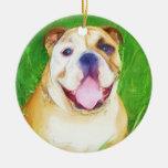Ornamento del arte del dogo adornos de navidad