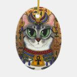 Ornamento del arte del gato de Bastet del egipcio  Ornamente De Reyes