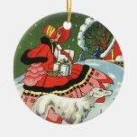 Ornamento del arte del navidad del chica del estil ornamente de reyes
