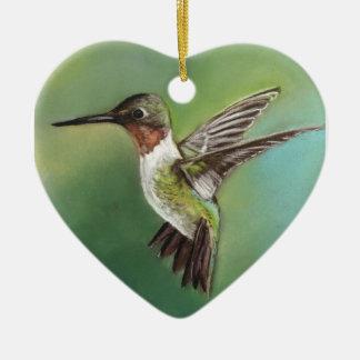 Ornamento del arte del pájaro del colibrí ornamentos de navidad