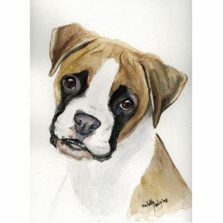 Ornamento del arte del perro del boxeador adorno fotoescultura