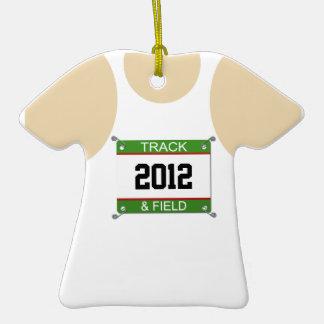 Ornamento del atletismo - año adaptable adornos de navidad