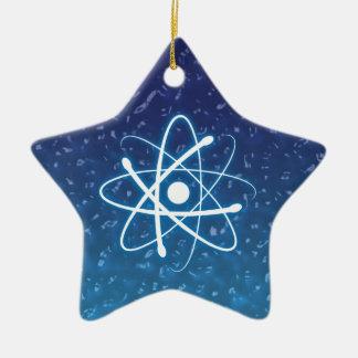 Ornamento del átomo del navidad que brilla ornaments para arbol de navidad