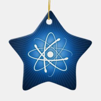 Ornamento del átomo del navidad que brilla ornamento de navidad