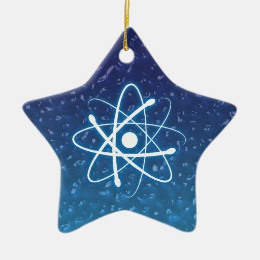 Ornamento del átomo del navidad que brilla intensa ornaments para arbol de navidad