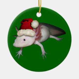 Ornamento del Axolotl Adorno Redondo De Cerámica