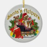 Ornamento del ayudante de Pitbull Santa Ornaments Para Arbol De Navidad